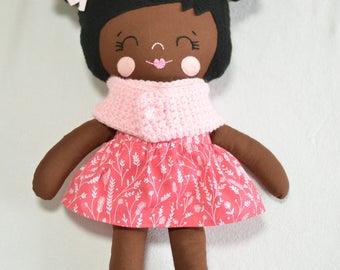 Black Hair cotton doll
