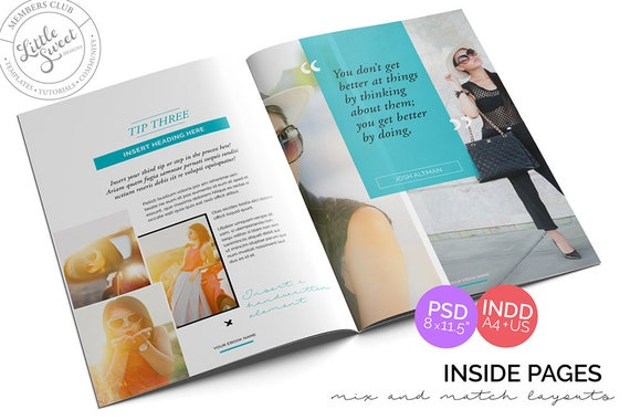 10 page eBook Template // InDesign INDD Photoshop PSD
