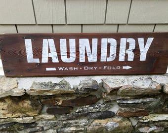 Laundry Rustic Farmhouse Shiplap Sign ~ wood sign ~ rustic wood signs ~ rustic ~ laundry ~ shabby chic decor ~ farmhouse decor ~ wall decor