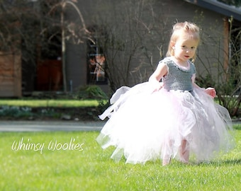 Crochet Dress Pattern: Crochet Tutu, Flower Girl Dress, Party Dress, 'The Coralie Dress'