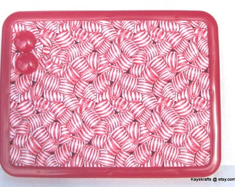 Peppermint Candy Magnet Board, Magnet Magnetic Bulletin Board, 8x11 Magnetic Message Board, Magnetic Pin Board, Christmas Decor