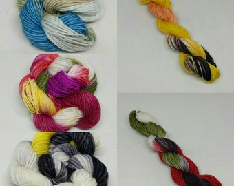 DK Super Wash Merino Hand-dyed Yarn - Appetizer skeins
