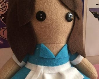 Jenna Waitress Musical Fleece Plush Doll
