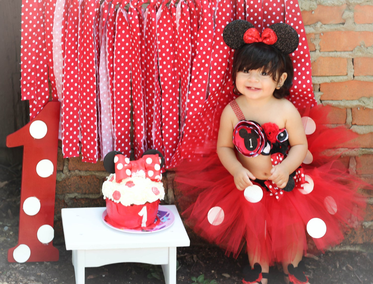 Gorgeous Minnie Mouse Birthday Outfit Tutu Set 3 Piece for