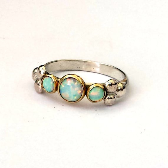 Items Similar To Opal Ring Exquisite Braided Opal: Items Similar To White Opal Unique Engagement Ring