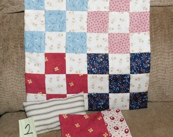 2.  9-Patch Quilt Pillow & Pillowcase for Bleuette and like-sized dolls