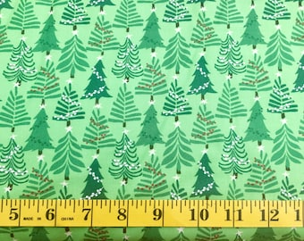 Moda Merry Merry Kate Spain Green Christmas Trees 2727511 Cotton Fabric By the Yard