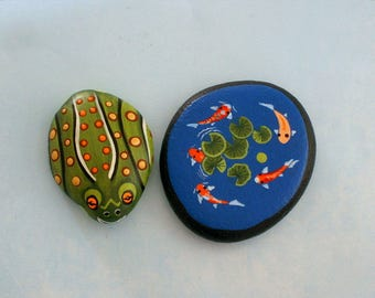 SHIPS FREE-DIY terrarium kits-leopard frog-painted pet rocks-miniature-3D garden art-outdoors garden planters pots-faerie fairy garden decor