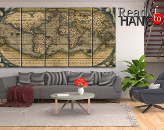World Map antique, World map, world wall map, vintage map, vintage world map, large world map, wall map canvas, a large world map