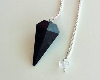 Healing Crystal Necklace, Pendulum, Black Tourmaline Pendulum Great Protection AMULET / Powerful Stone