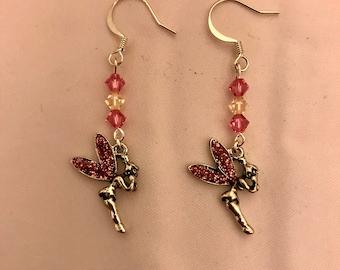 The Pink Fairy Dangle Earrings