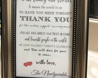 """Wedding Thank You Card -You Design - your choice of colors(PDF FILE) 5x7"""""""