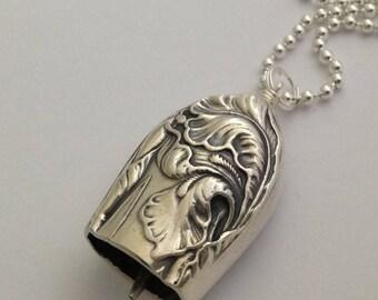 Knife Bell Pendant Fleur de Luce 1904 Silverware Jewelry Vintage Silverplate Knife