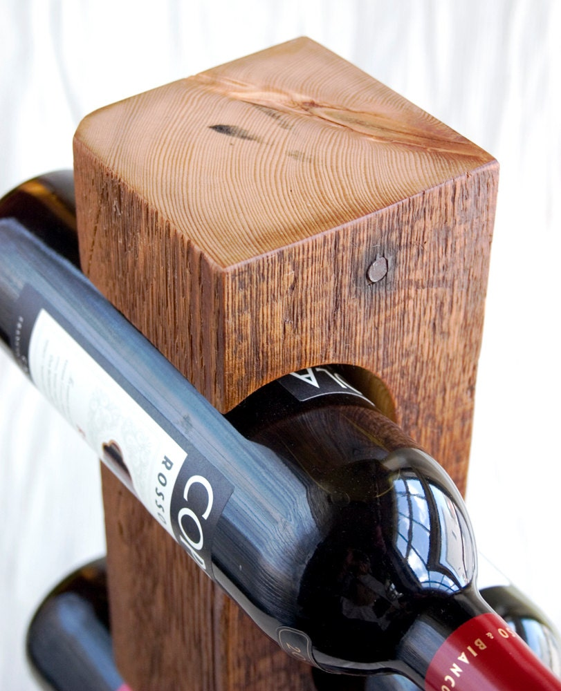 Buy a Custom Reclaimed Wood Wine Rack, made to order from ... |Unique Wood Wine Rack