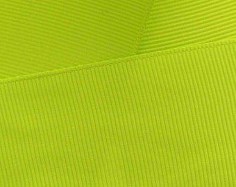 "1.5"" Grosgrain Ribbon Solid 546 Lime Green 5yd"
