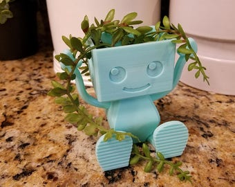 Build-A-Robot Planter, Succulent Planter, Air Planter Many Colors
