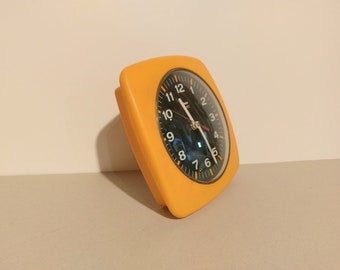 Vintage Wall Clock/ Orange Clock/ Insa/ 70s/ Yugoslavia