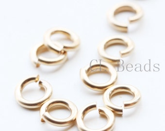 10 Pieces of 14K Gold Filled OPEN Jump Ring - 6mm