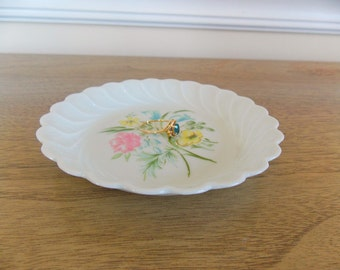 Haviland Butter Pat Plate, Small Plate, Flower Plate, Haviland, RIng Holder, Jewelry Holder, Kitchen, Bedroom, Spring, Summer,