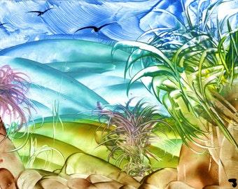fantasy landscape wax art