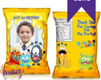 Lil Monster Birthday Chip/Treat Bag