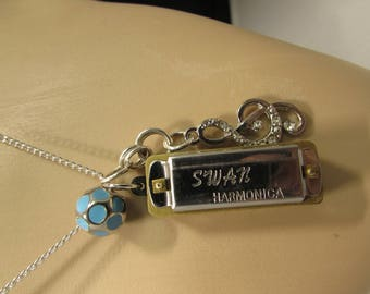 ArtPop Harmonica Music Note Necklace inspired by Lady Gaga