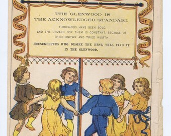Antique Vintage Glenwood Stove Co Bath ME History American Mfg Food Cooking Kitchens Paper Ephemera