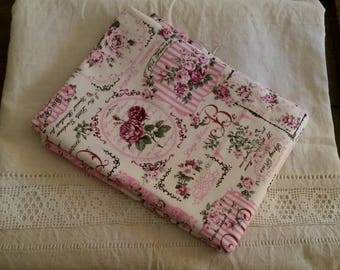 Fabric floral shabby chic / monograms patterns and old rose