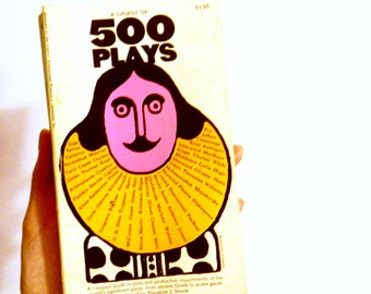 Vintage 1960s Collection of Plays / Retro 60s Pop Art / Mid Century Theater Paperback Book / Collectible Book / Vintage Book Decor