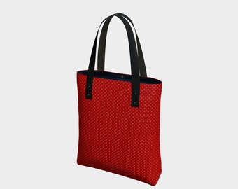 Urban & Basic Tote, Red Markle Crown Luxury Tote, Women's Handbag, Women's Purse Gift for Her Gift for Mom, Women's Urban Tote Bag, Handbag