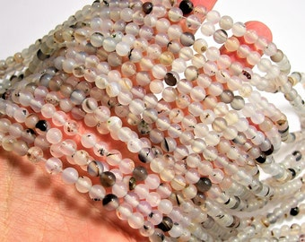 Dendrite Agate bead - 6mm  round - 1 full strand - 62 beads - WHOLESALE DEAL - RFG1540