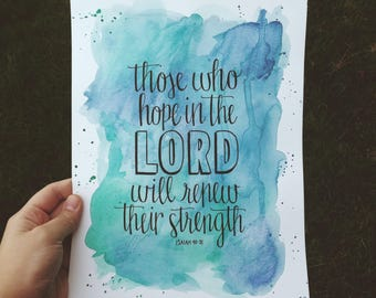 Hope in the Lord Print