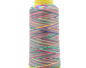 10 meters of multicolored and bright, colorful cotton cord