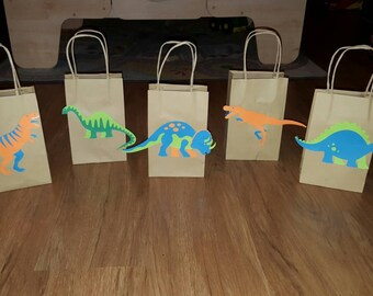 10 Dinosaur Party Favor Bags