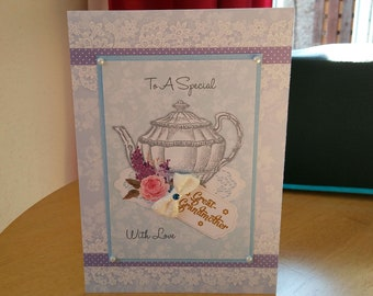Great Grandmother Birthday Card - luxury quality bespoke UK handmade