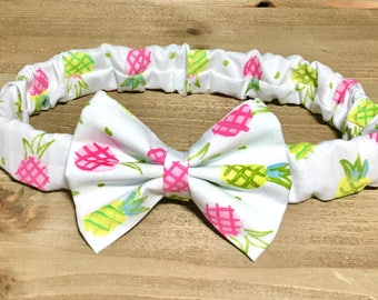 Pineapple Headband Pineapple Bow Pineapple Hair Bow Pineappple Outfit Toddler Headbands Newborn Headbands Bow Headbands Headbands for Girls