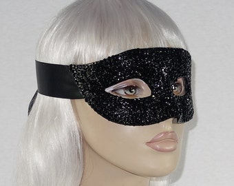 Made-to-Order Crystallized Mask w/Satin Ribbon