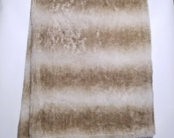 Very Soft & Clean Light Brown WoolRich Home Rug