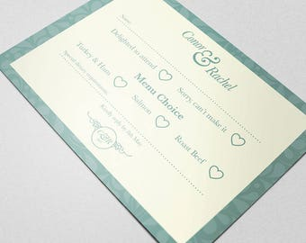 Wedding RSVP: Personalised Stationery - Wedding Invite. Your Special Day