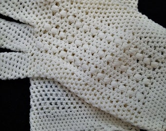 ON SALE Vintage Ivory Knit Stretch Gloves