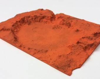 Mars Spirit Landing Site   Topographic Model