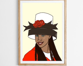 Dionne Davenport Clueless 90s Nostalgia Print Art Work Graphic 1990s Movies