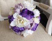 Purple, lilac and ivory s...