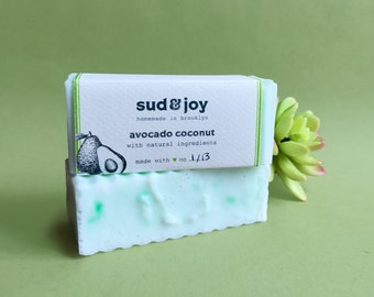 avocado coconut Soap / homemade soap / natural soap / bar soap / hand soap / body soap / bath soap / valentines day gift