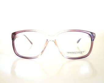 1960s Horn Rim Eyeglasses Mens Glasses Clear Light Brown Amber Guys 60s Sixties Mid Century Modern Mod Deadstock NOS New Old Stock Hornrim