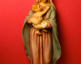 Virgin Mary and Child Figurine