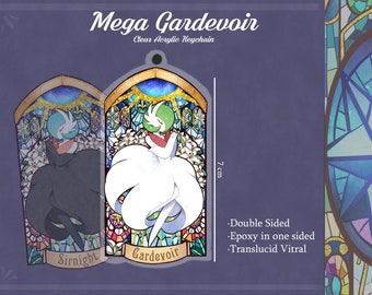Preorder- Mega gardevoir Acrylic Keychain