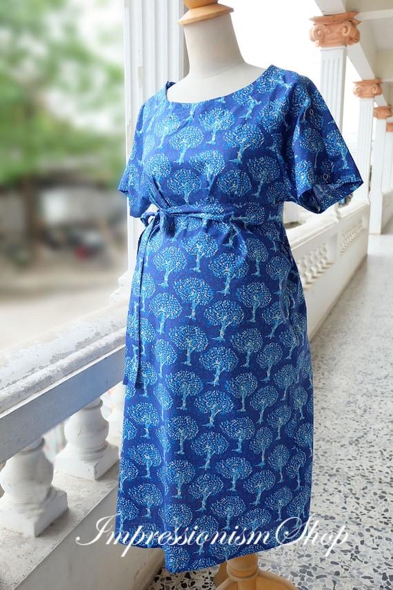 Maternity Hospital Gown Shoulder Snaps Breastfeeding