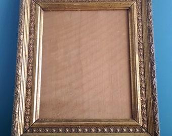 Antique Victorian Gilt Gesso Picture / Photo Frame