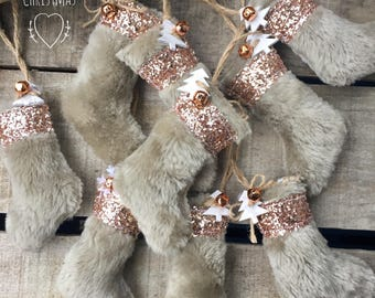 Faux fur and reindeer decorations